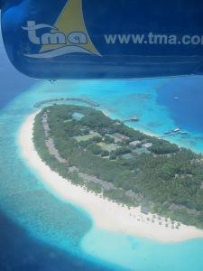 Aerial View of Reethi Beach