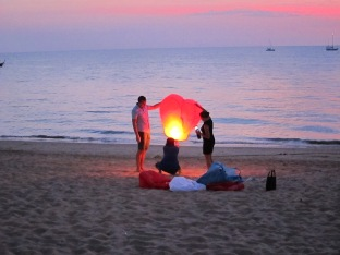 Lanterns on the beach