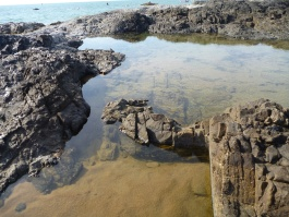 Rocks pools when the tide is out
