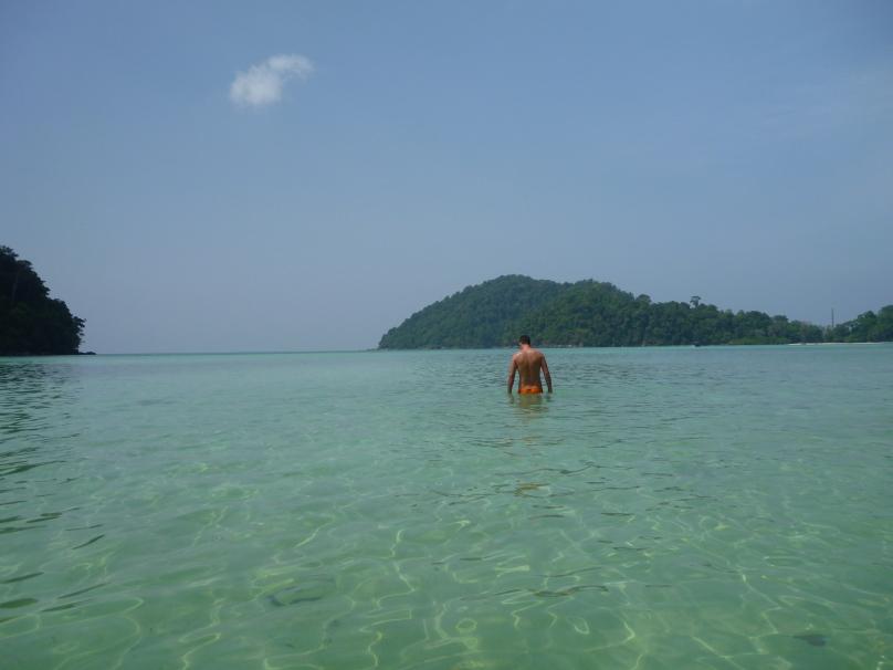 The clear warm lagoon
