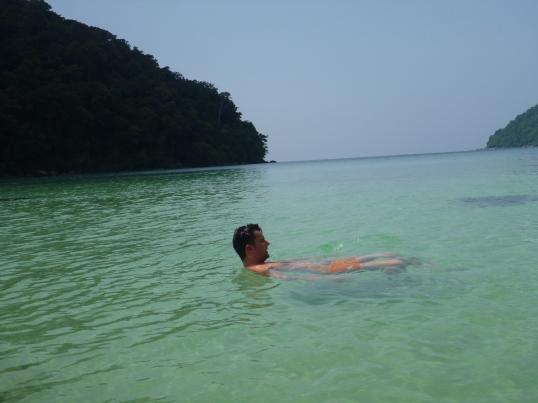 Hubby enjoying the lagoon